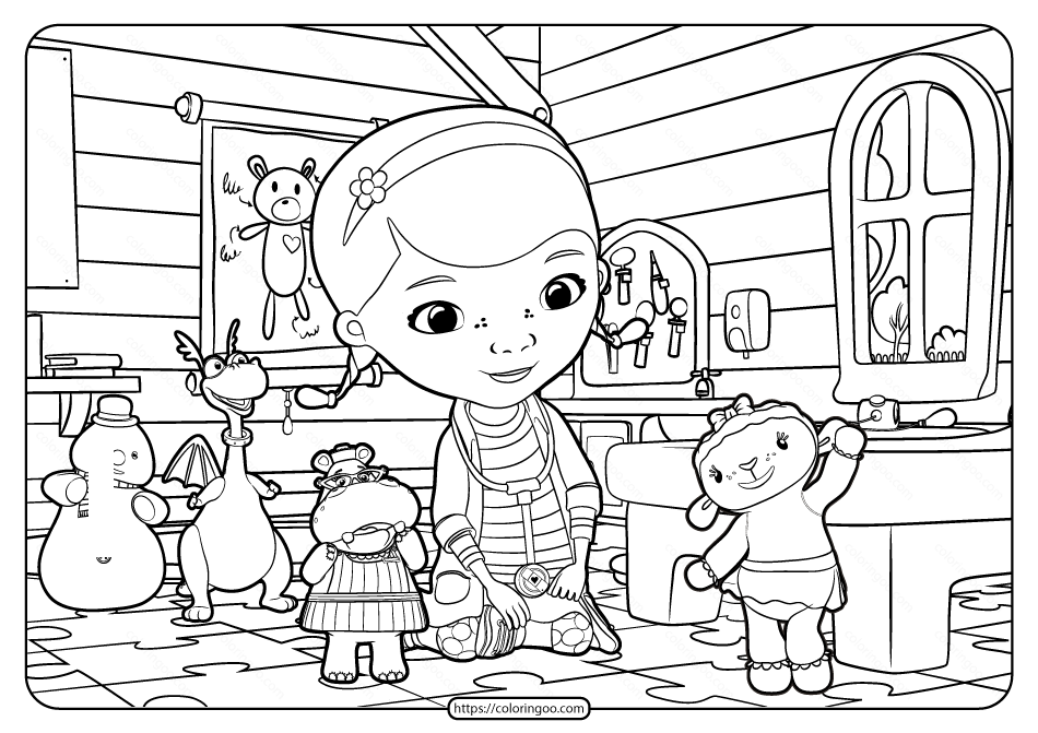 Doc McStuffins Coloring Pages - Best Coloring Pages For Kids | 671x950