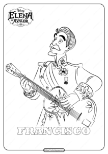 Princess Elena Of Avalor Francisco Coloring Pages