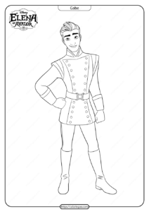 Printable Elena Of Avalor Gabe Coloring Pages
