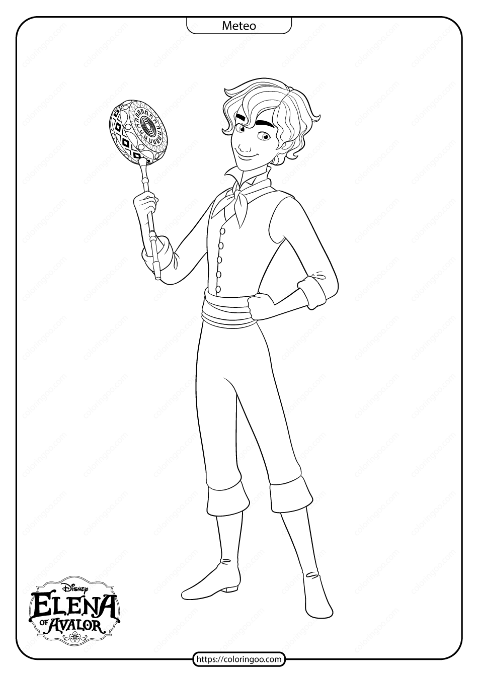 Printable Elena Of Avalor Meteo Coloring Pages