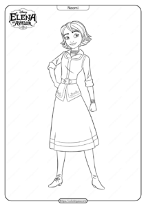 Printable Elena Of Avalor Naomi Coloring Pages