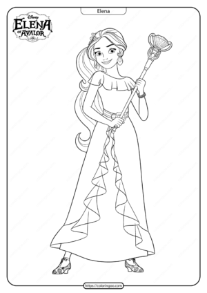 Printable Elena Of Avalor Pdf Coloring Pages