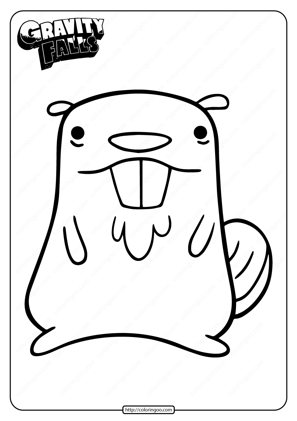 Printable Gravity Falls Beaver Coloring Pages