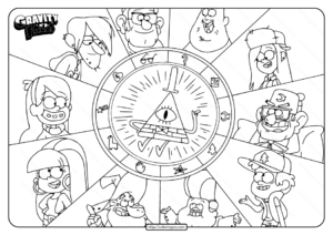 Printable Gravity Falls Characters Coloring Pages