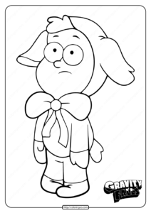 Printable Gravity Falls Dipper Pines Coloring Pages