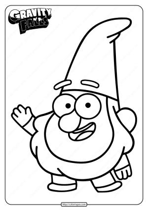 Gravity Falls Friendly Gnome Jeff Coloring Page