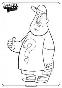 Printable Gravity Falls Soos Ramirez Coloring Pages