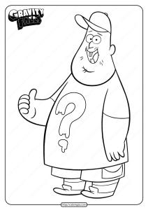 Printable Gravity Falls Soos Ramirez Coloring Pages