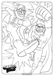 Gravity Falls Stan and Ford Coloring Pages