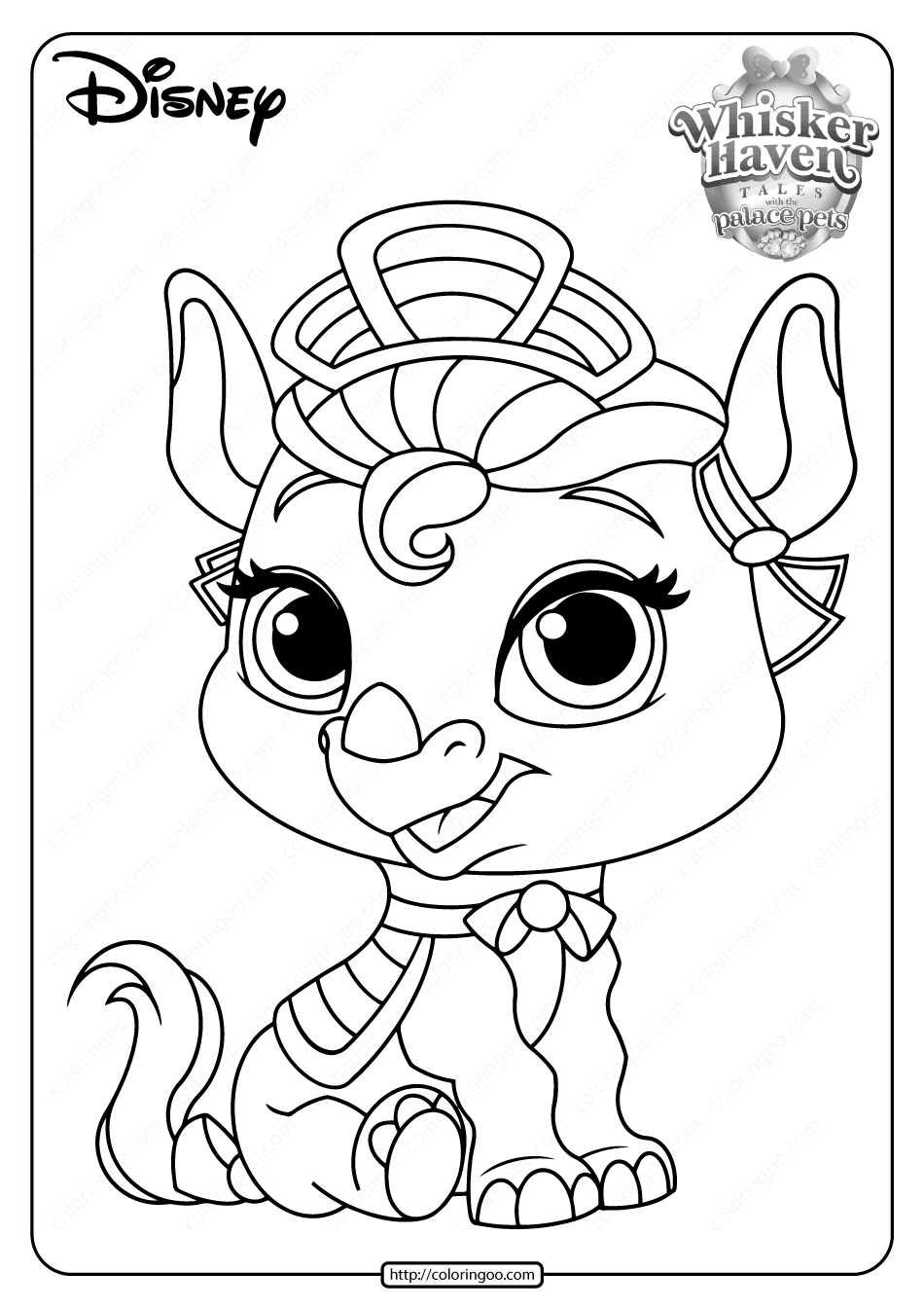Printable Palace Pets Alora PDF Coloring Pages
