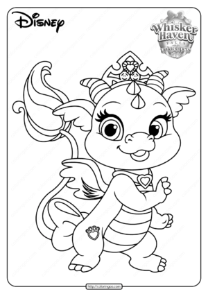 Printable Palace Pets Ash PDF Coloring Pages