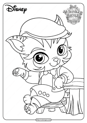 Printable Palace Pets Barnaby Pickles Coloring Page