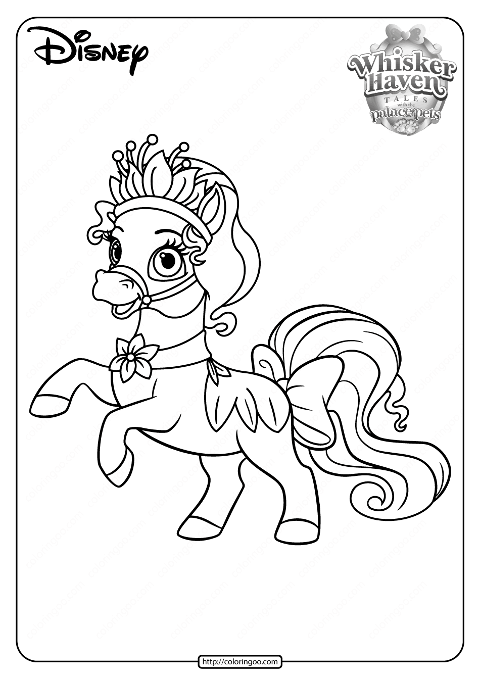 Printable Palace Pets Bayou PDF Coloring Pages