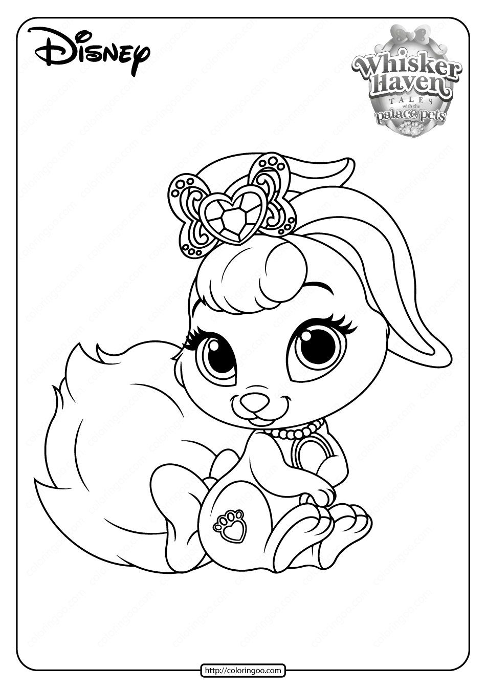 Printable Palace Pets Berry PDF Coloring Pages