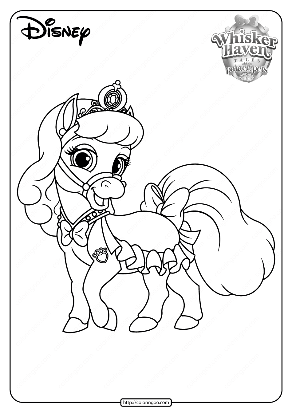 Printable Palace Pets Bibbidy PDF Coloring Pages