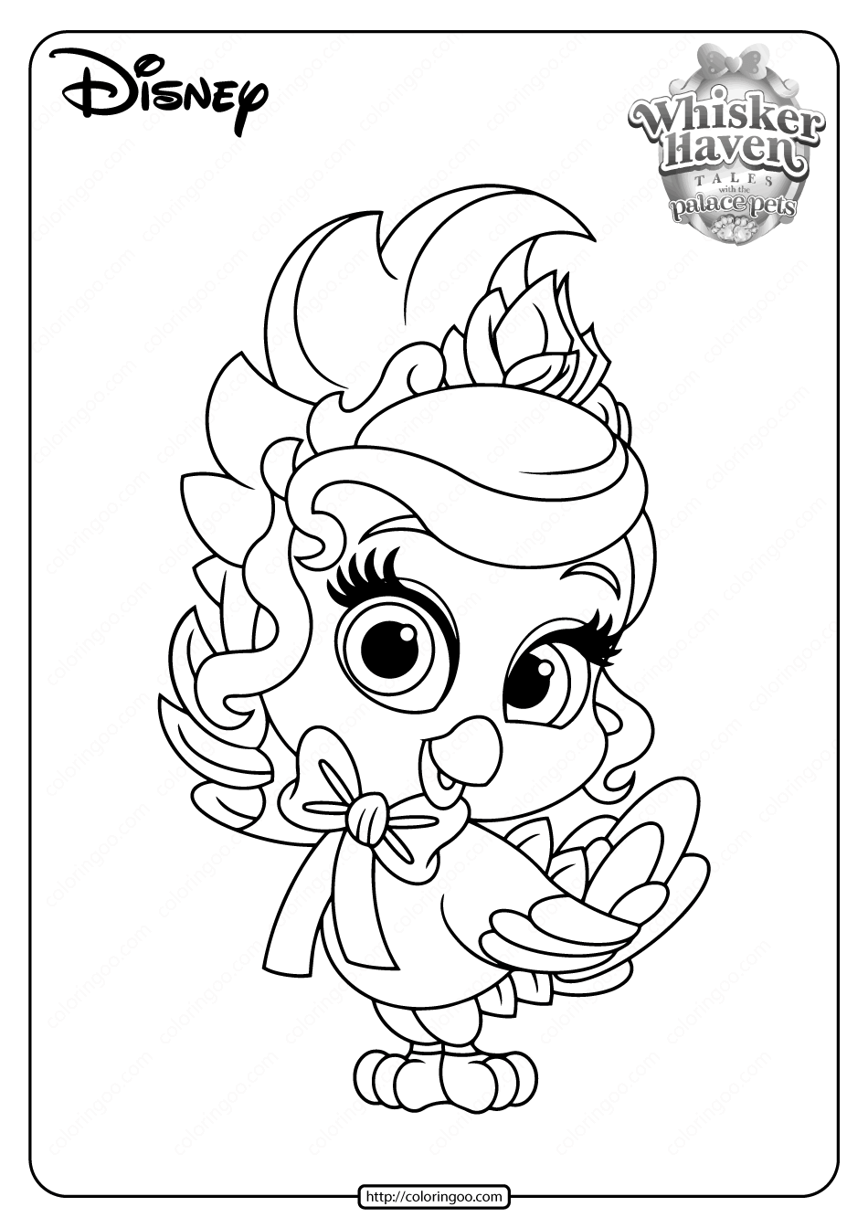 Printable Palace Pets Birdadette PDF Coloring Pages