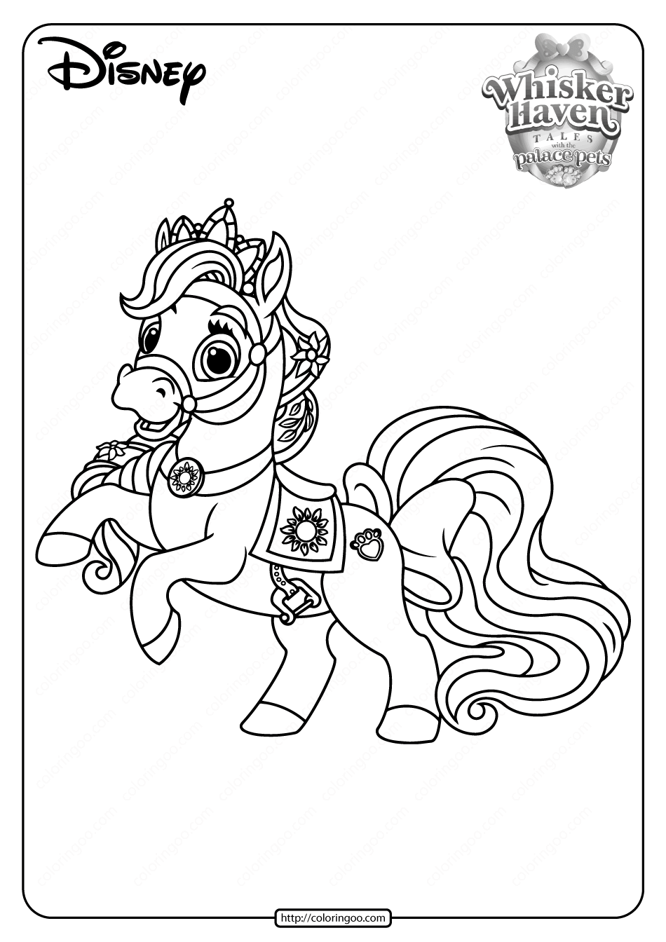 Printable Palace Pets Blondie PDF Coloring Pages