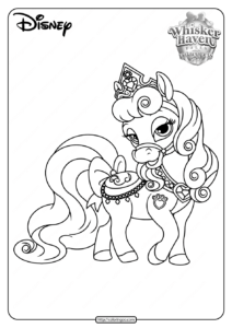 Printable Palace Pets Bloom PDF Coloring Pages