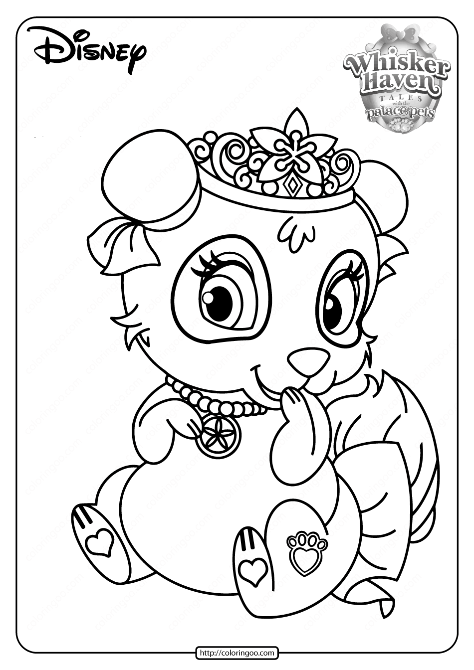 Printable Palace Pets Blossom PDF Coloring Pages