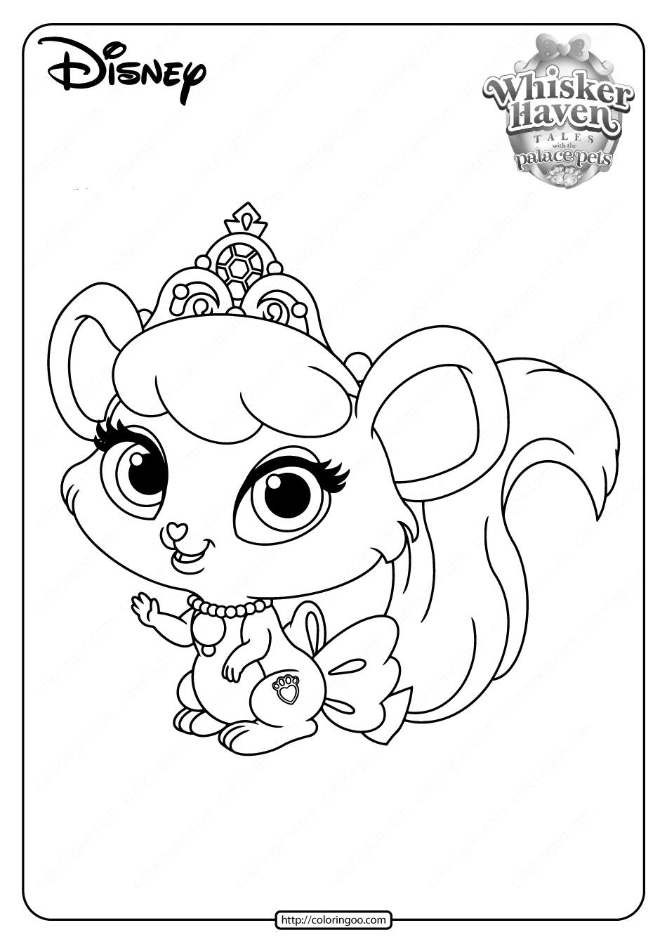 Printable Palace Pets Brie PDF Coloring Pages