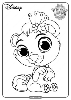 Printable Palace Pets Cubbie PDF Coloring Pages