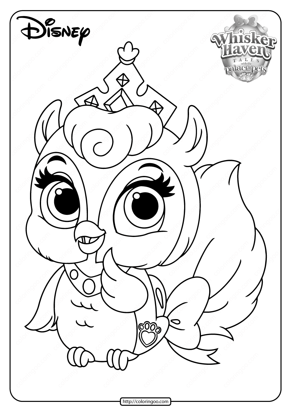 Printable Palace Pets Fern Coloring Pages