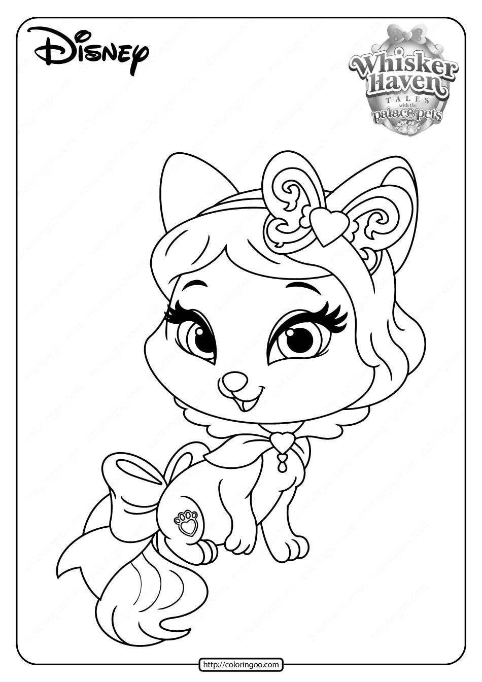 Printable Palace Pets Honeycake Pdf Coloring Pages
