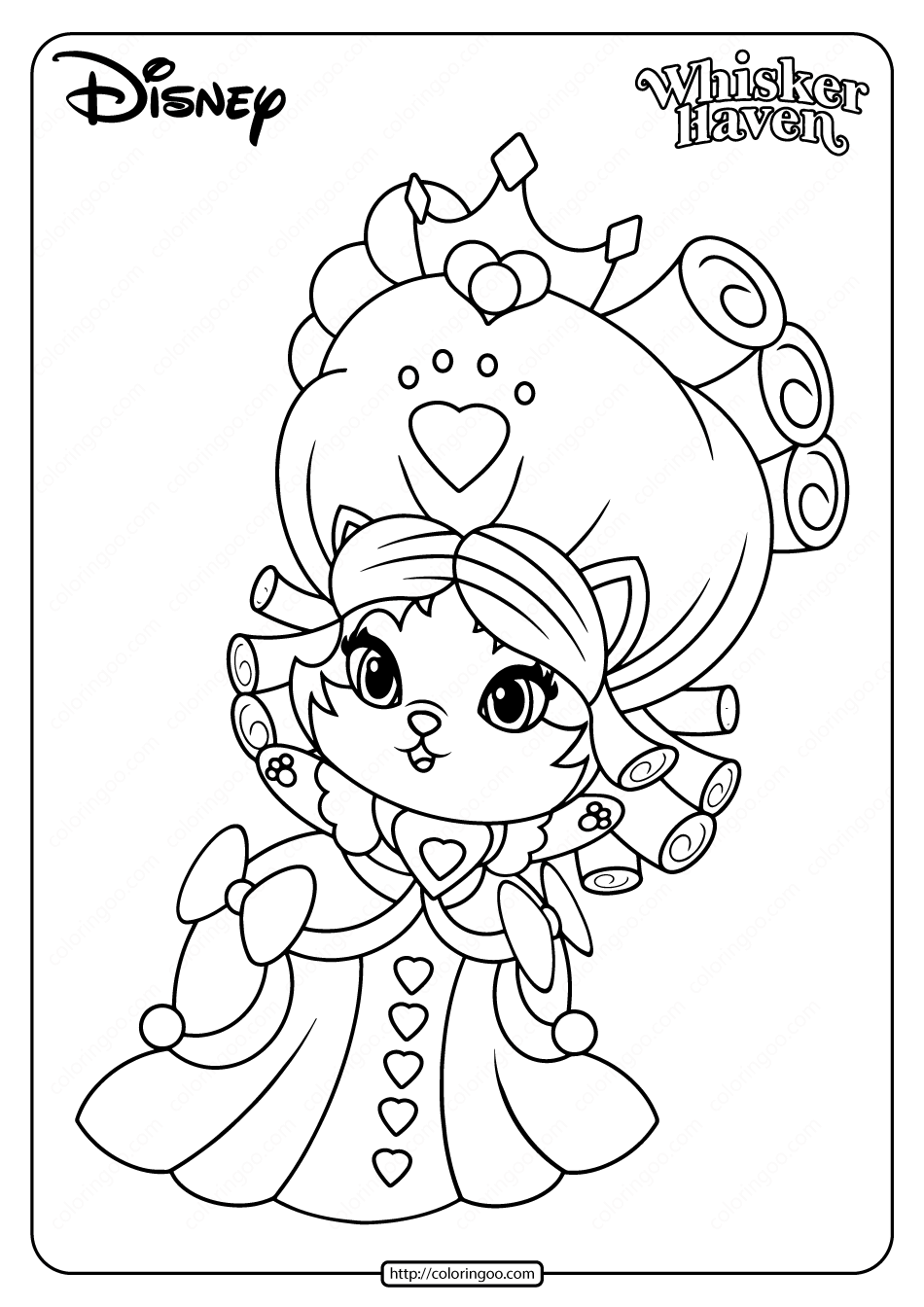 Printable Palace Pets Jane Hair Pdf Coloring Pages