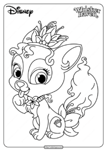 Printable Palace Pets Lily Pdf Coloring Pages