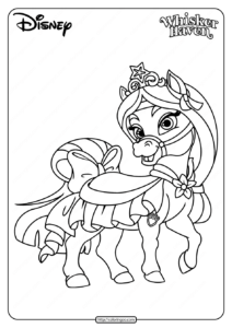 Printable Palace Pets Lychee Pdf Coloring Pages