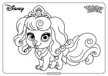 Printable Palace Pets Macaron Pdf Coloring Pages