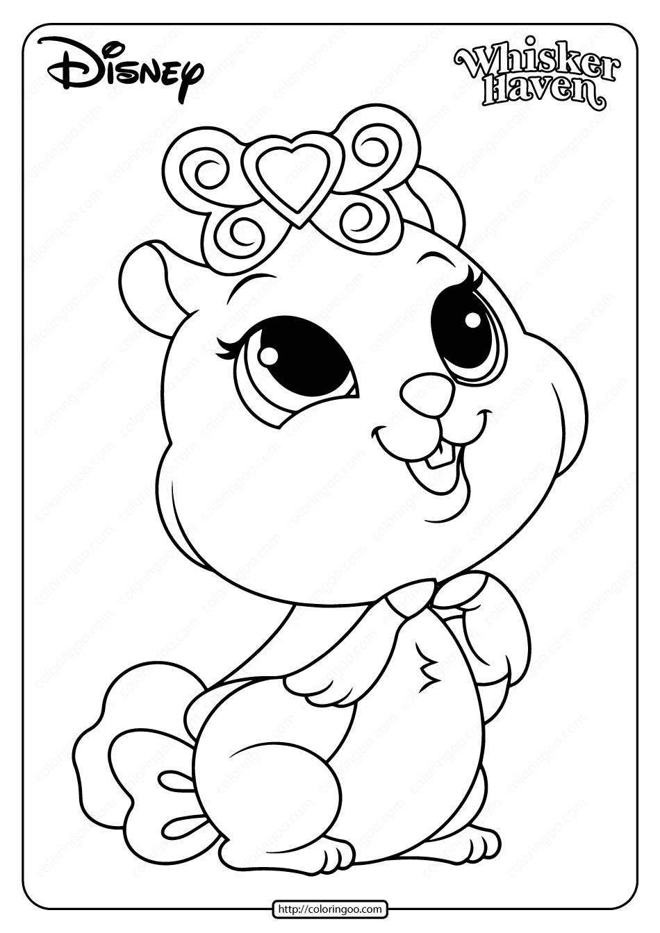 Printable Palace Pets Madame Hamilot Coloring Pages
