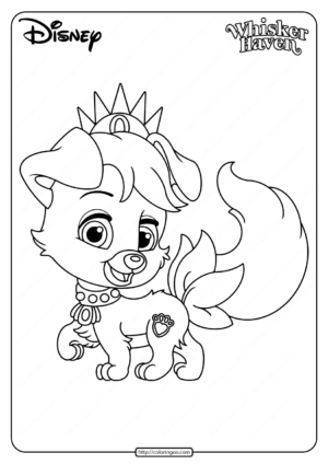 Printable Palace Pets Matey Pdf Coloring Pages