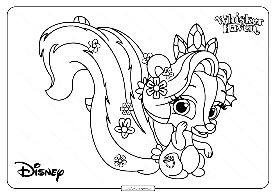 Printable Palace Pets Meadow Pdf Coloring Pages