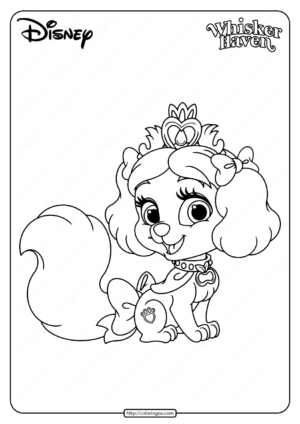 Printable Palace Pets Muffin Pdf Coloring Page