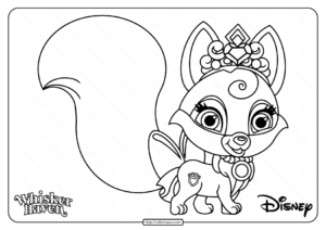 Printable Palace Pets Nuzzles Pdf Coloring Page