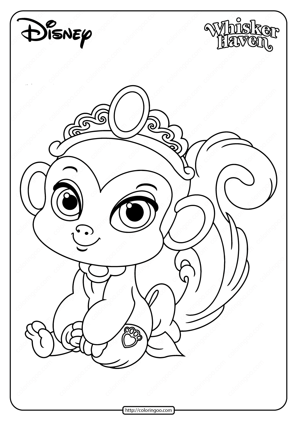 Printable Palace Pets Nyle Pdf Coloring Page