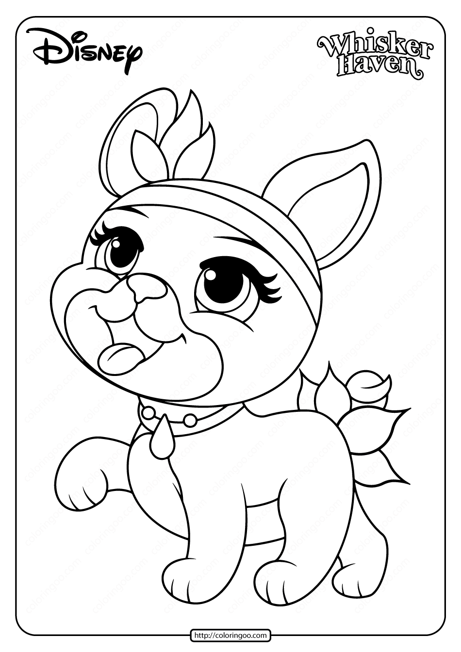 Printable Palace Pets Olive Pdf Coloring Page