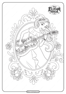 Princess Elena Of Avalor Pdf Coloring Book
