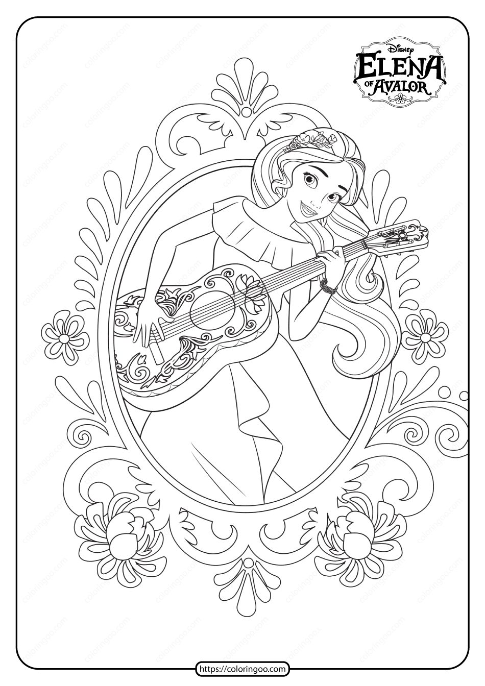 Princess Elena Of Avalor Pdf Coloring Book
