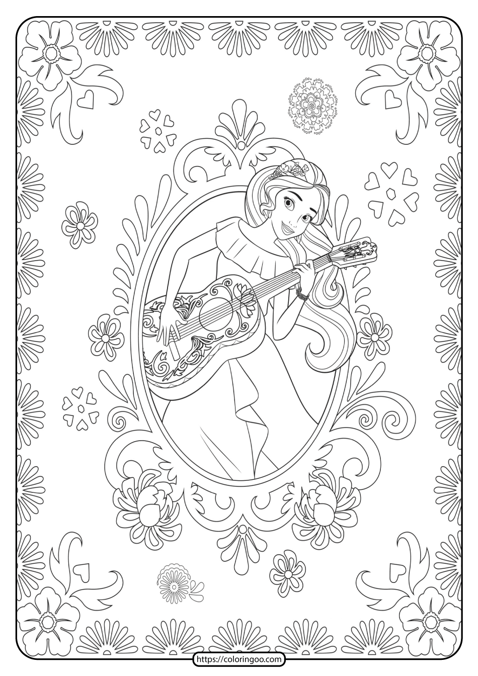 Princess Elena Of Avalor Pdf Coloring Pages