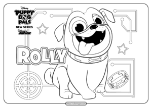 Printable Puppy Dog Pals Rolly Coloring Book Page