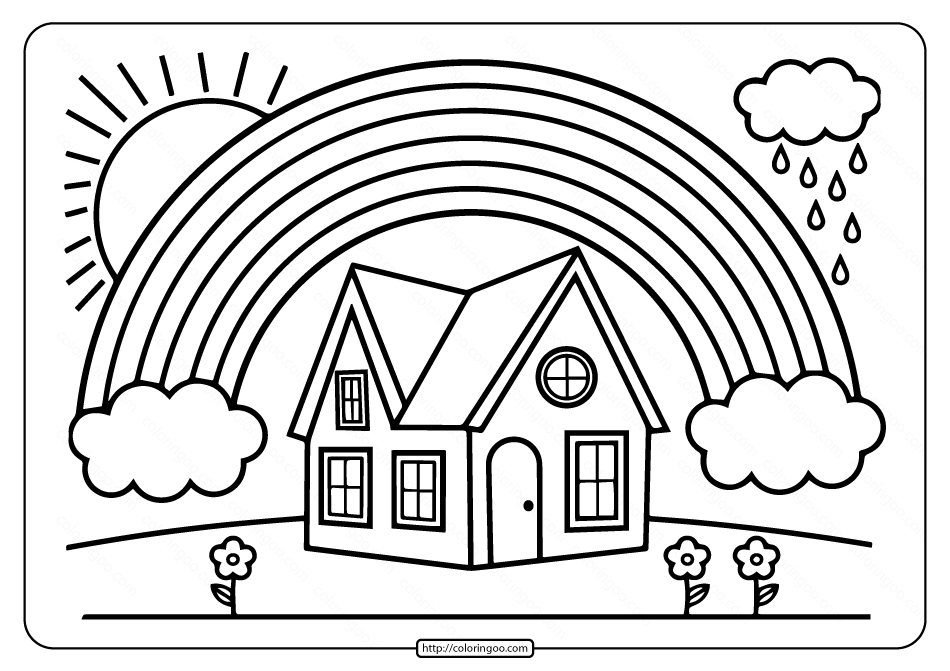 Printable Rainbow Coloring Book for Kids