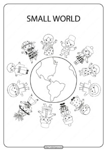 Printable Small World Pdf Coloring Page