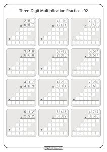 Printable 5th Grade Multiplication Worksheet 02