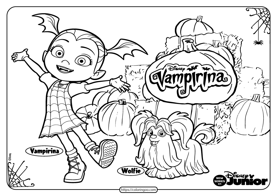 Printable Vampirina Halloween Coloring Pages 01
