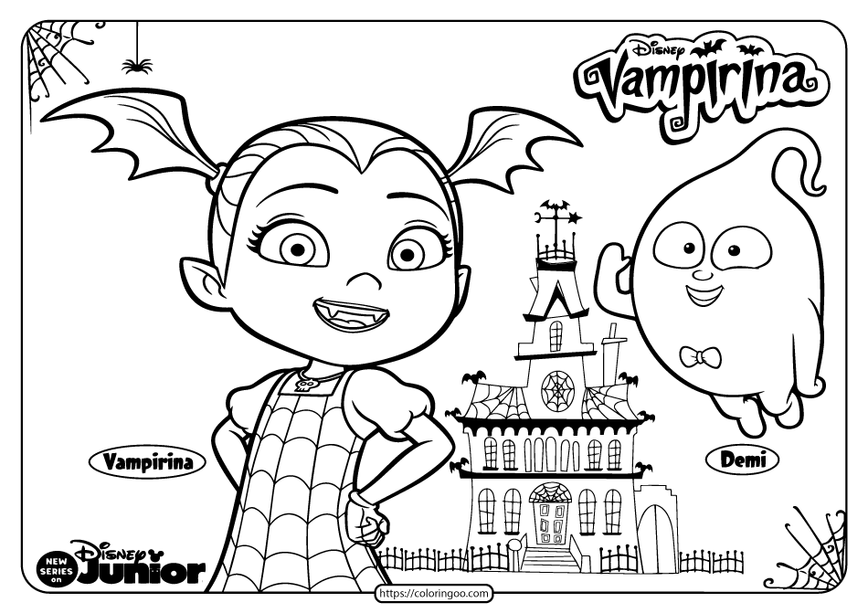 Printable Vampirina Halloween Coloring Pages 02