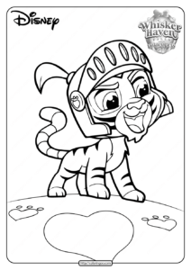 Printable Whisker Haven Palace Pets Coloring Pages