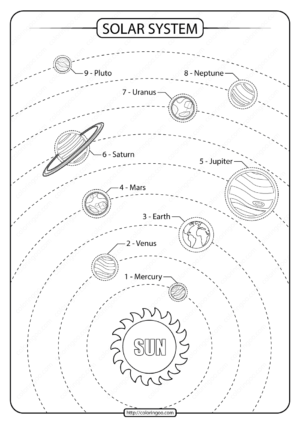 Printable Solar System Drawing PDF Worksheet