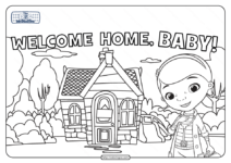 Doc Mcstuffins Welcome Home Baby Coloring Page